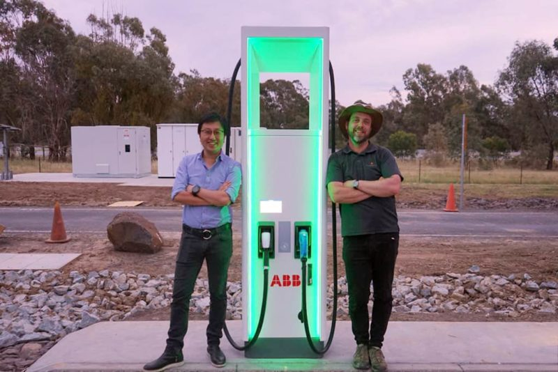 Chargefox Co-founder Tim Washington and Head of Charging, Evan Beaver