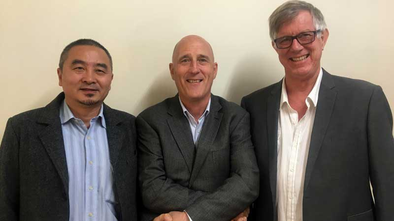 L-R: Will Qiang, Mark Haig and Greg McGarvie. Supplied.