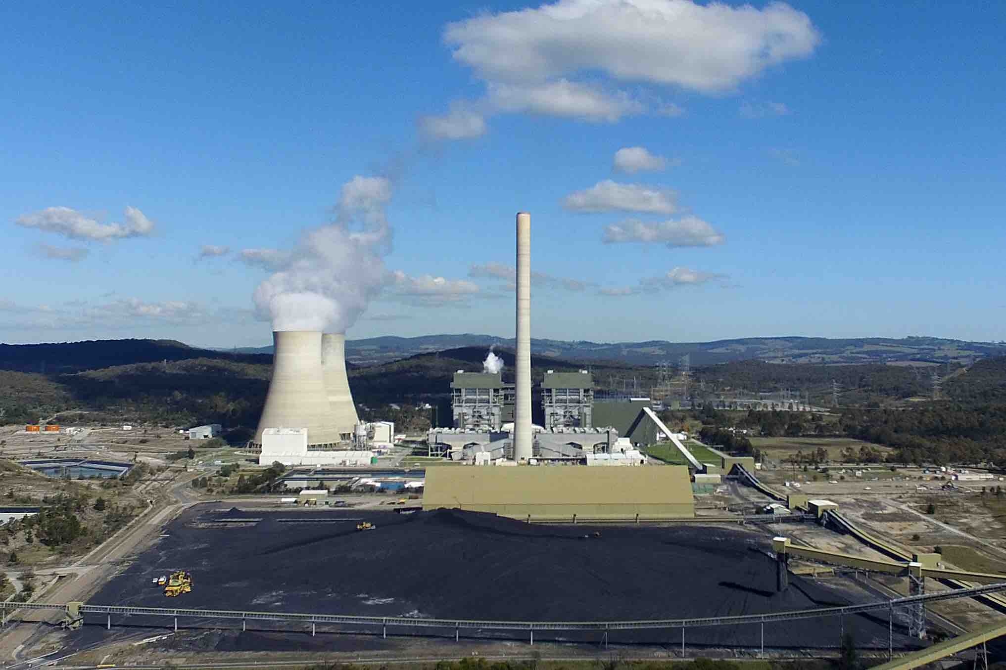 A general view of the Mt Piper coal fired power station near expansion