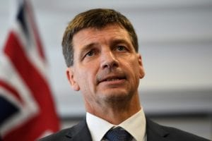 Federal Energy Minister Angus Taylor
