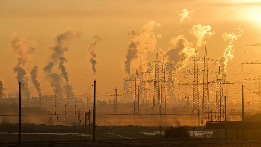 Air Pollution explosion emissions from Power Stations