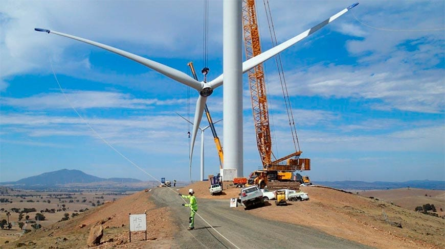 Construction of Pacific Hydro's Crowland's Wind Farm