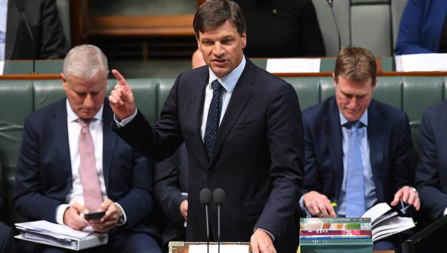 Angus Taylor emissions increasing parliament question time - optimised