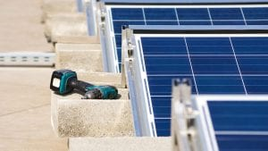 records clean energy regulator Electrical borer by the solar panels - optimised