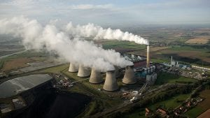 data Aerial of cooling Towers coal power station emissions options - optimised