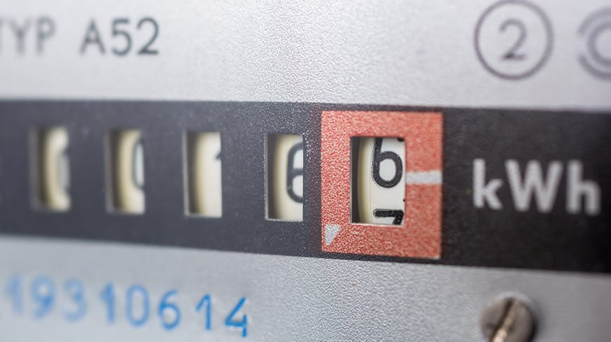 Meter for electricity consumption to calculate electricity costs - optimised