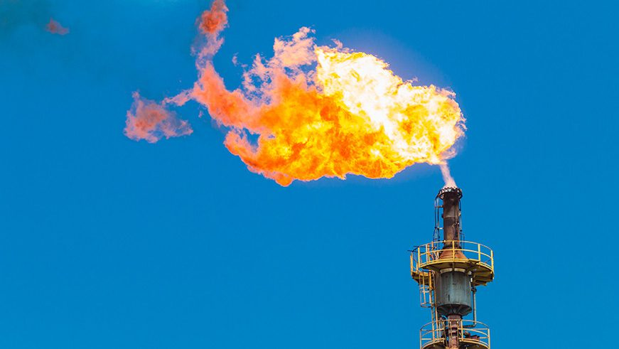 Canva - Burning oil and gas from flare structure - optimised