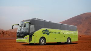Impression of a FMG branded fuel cell bus. (Credit: HYZON).