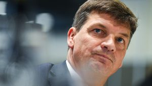 Federal Energy Minister Angus Taylor at the National Press Club. AAP Image/Lukas Coch