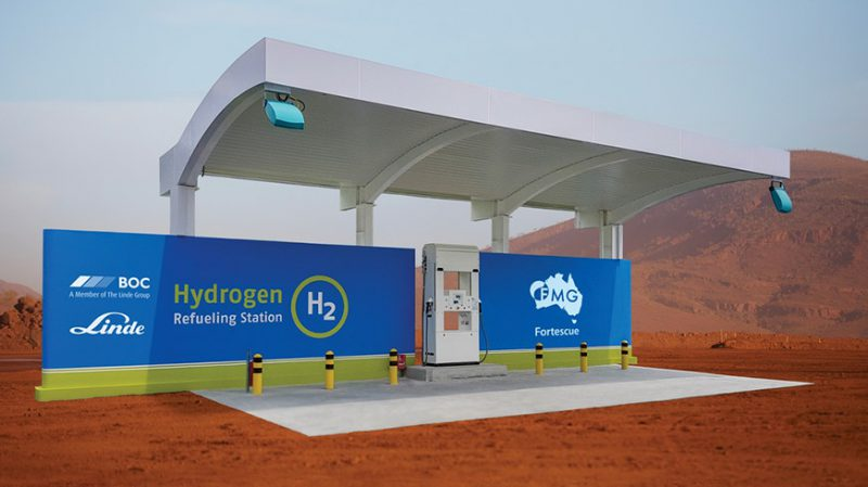 Mock up of the planned hydrogen refuelling station (supplied).
