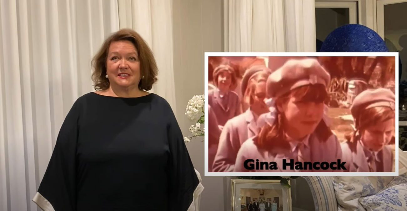 Australia's richest person, Gina Rinehart, told students that climate science was